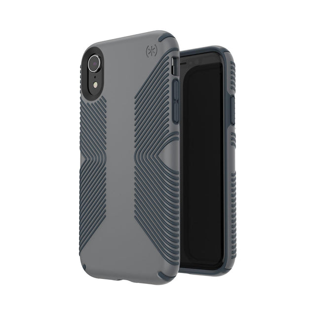Speck Presidio Grip Phone Case For iPhone X - Graphite Grey/Charcoal Grey