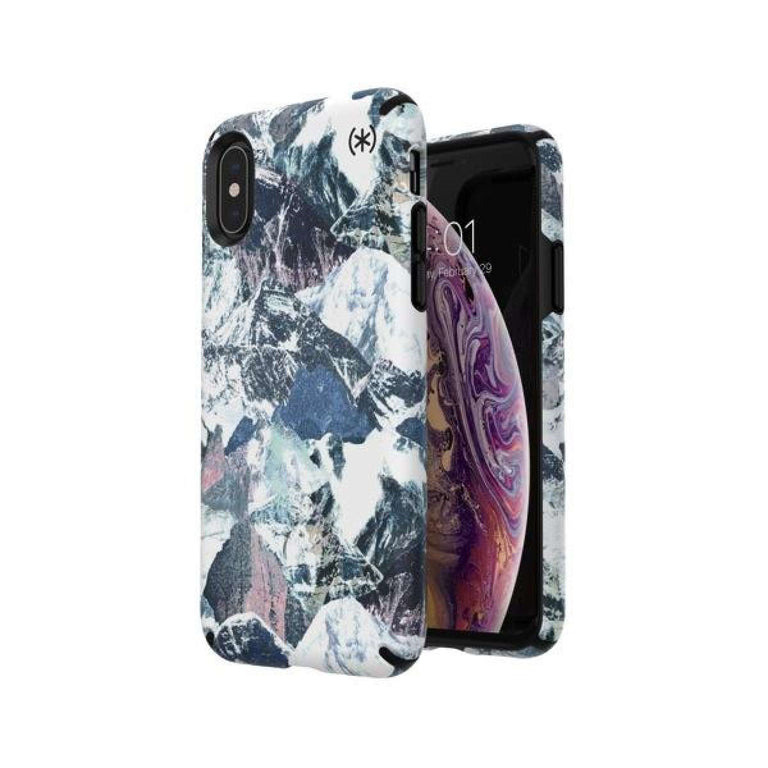 Speck Presidio INKED Phone Case iPhone X - Mountain Ranged/Black