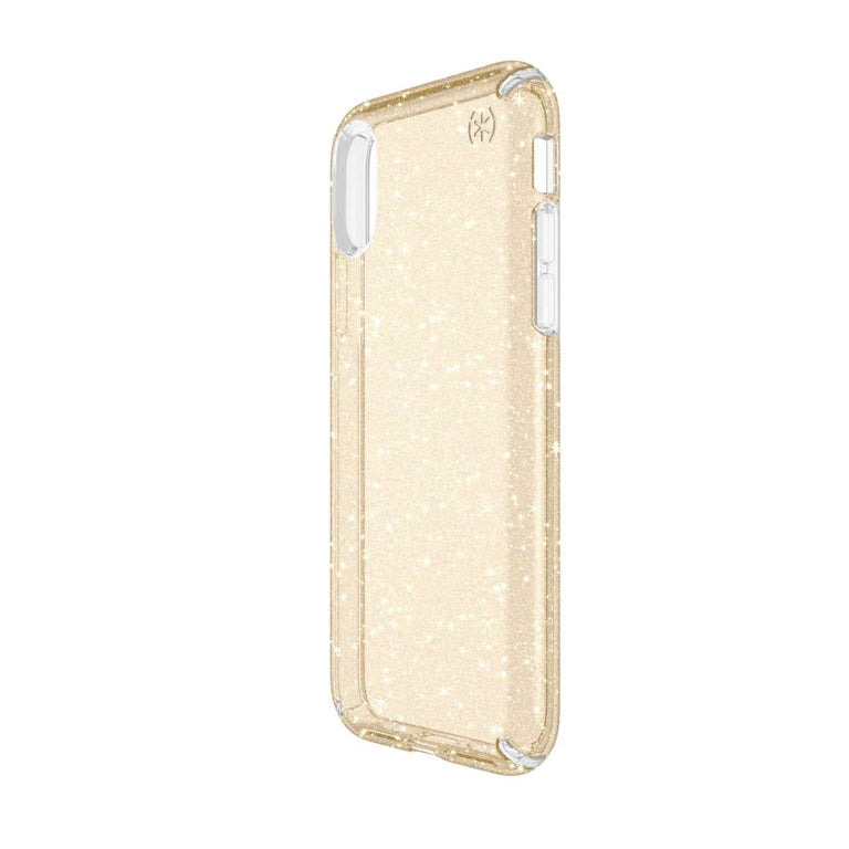 Speck Presidio Phone Case For iPhone X - Clear Glitter Gold