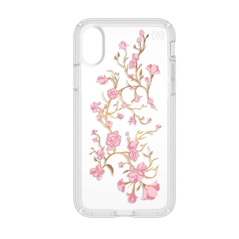 Speck Presidio Phone Case For iPhone X - Clear Print Goldenblossoms Pink/Clear
