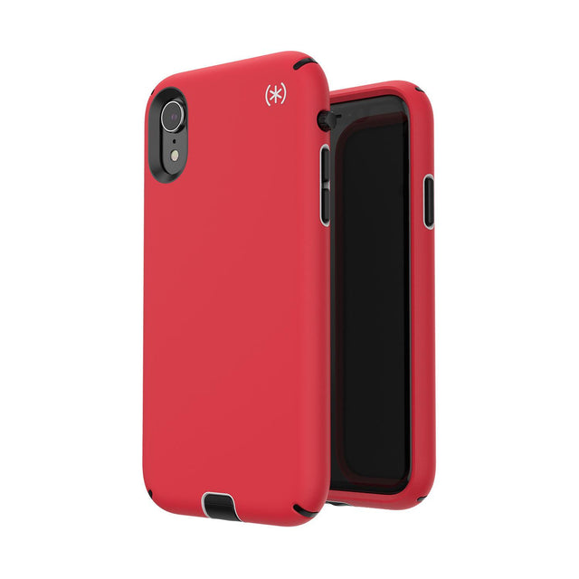 Speck Presidio Sport Phone Case For iPhone X - Heartrate Red/Sidewalk Grey/Black