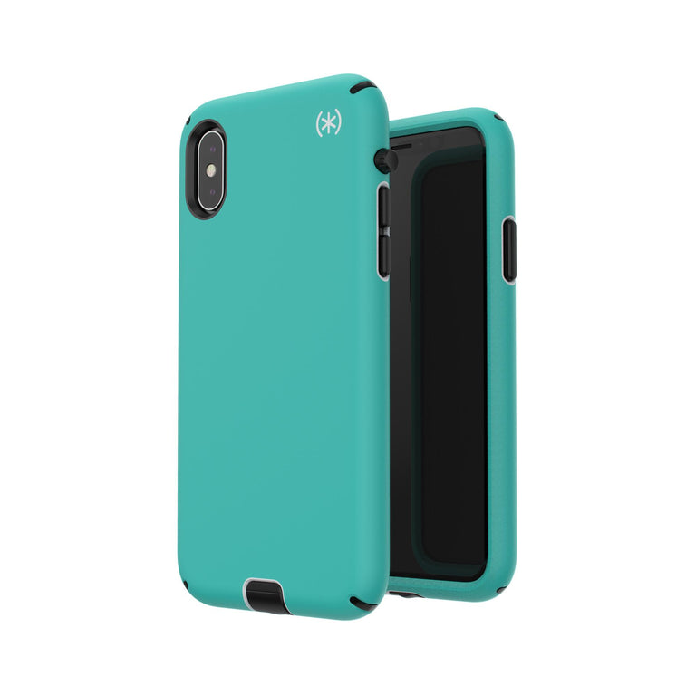 Speck Presidio Sport Phone Case For iPhone X - Jetski Teal/Dolphin Grey/Black
