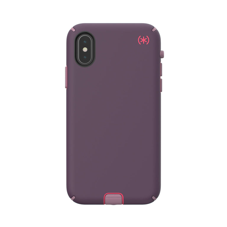 Speck Presidio Sport Phone Case For iPhone X - Vintage Purple/Pitaya Pink/Cattleya Pink