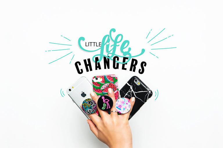 PopSockets Swappable PopGrips PopMirror Black