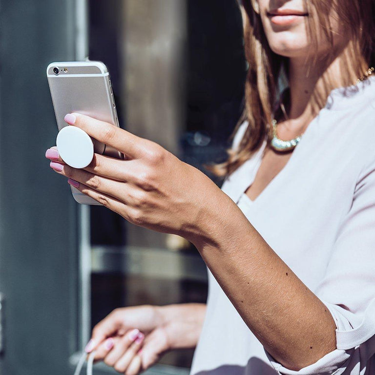 PopSockets Swappable PopGrips Genuine Amethyst Gemstone