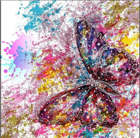 Paint 'N Crafts 12x12'' (30x30cm) Colorful Butterfly - Diamond Painting Kit