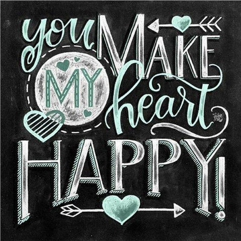 Image of Paint 'N Crafts 16x16'' (40x40cm) Happy Heart - Diamond Painting Kit