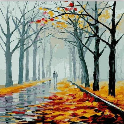 Paint 'N Crafts 16x20'' (40x50cm) Autumn Lovers - Paint by Numbers Kit