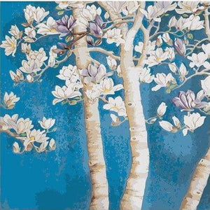 Paint 'N Crafts 16x20'' (40x50cm) Magnolia Flower - Paint by Numbers Kit