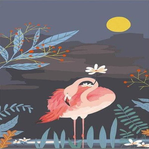 Image of Paint 'N Crafts 16x20'' (40x50cm) Pink Flamingo - Paint by Numbers Kit