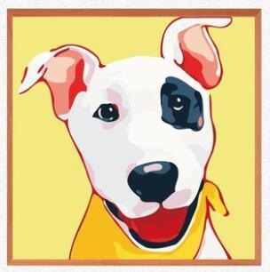 Image of Paint 'N Crafts 8x8'' (20x20cm) Joyful Dog - Paint By Numbers Kit