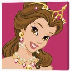 Image of Paint 'N Crafts 8x8'' (20x20cm) Princess With Tiara - Paint By Numbers Kit
