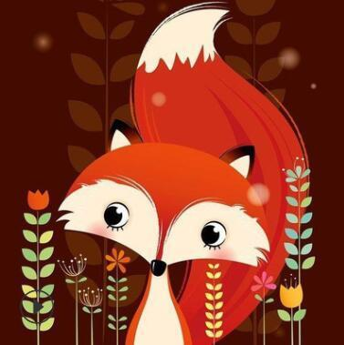 Image of Paint 'N Crafts 8x8'' (20x20cm) Red Fox- Diamond Painting Kit