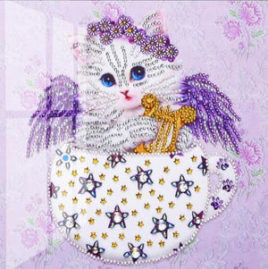 Paint 'N Crafts Angelic Cat - Diamond Painting Kit
