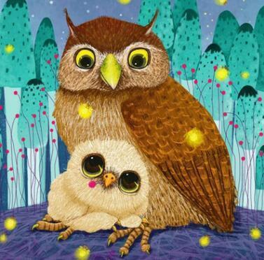 Image of Paint 'N Crafts Brown Owl - Diamond Painting Kit