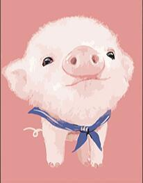 Image of Paint 'N Crafts Captain Pig - Diamond Painting Kit