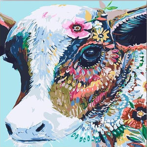 Paint 'N Crafts Colorful Cow - Paint by Numbers Kit