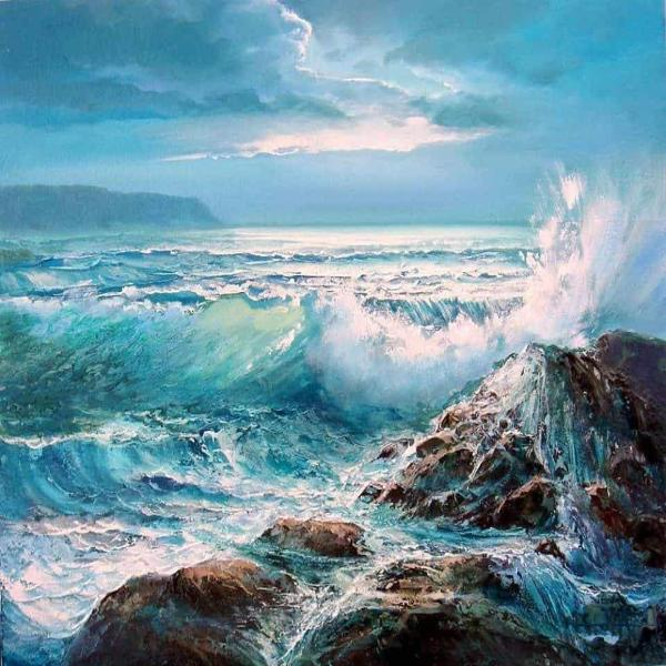Paint 'N Crafts Crashing Waves - Paint By Numbers Kit