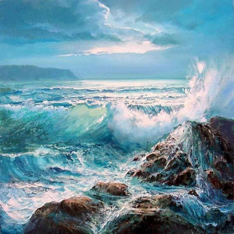 Image of Paint 'N Crafts Crashing Waves - Paint By Numbers Kit