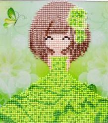 Paint 'N Crafts Girl In Green - Diamond Painting Kit
