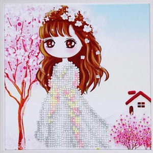 Paint 'N Crafts Girl In Pink - Diamond Painting Kit