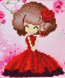 Paint 'N Crafts Girl In Red - Diamond Painting Kit