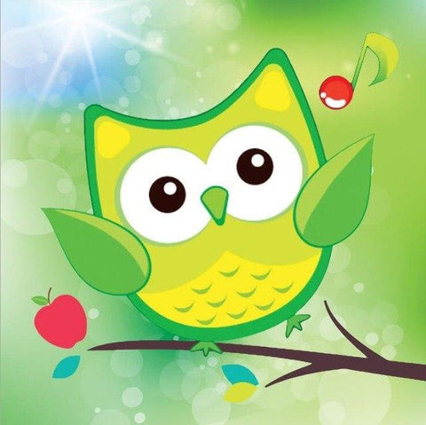 Paint 'N Crafts Green Owl - Diamond Painting Kit