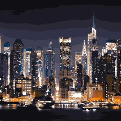 Paint 'N Crafts Lights Of New York - Paint By Numbers Kit