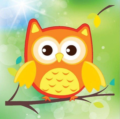 Image of Paint 'N Crafts Orange Owl - Diamond Painting Kit