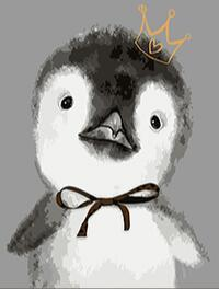 Image of Paint 'N Crafts Penguin King - Diamond Painting Kit