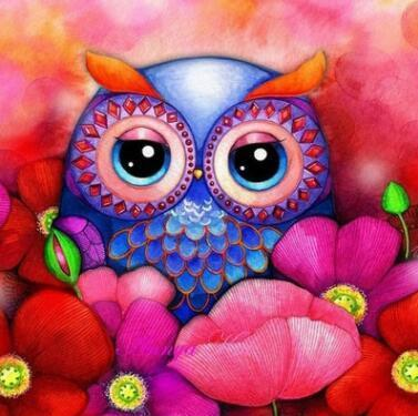Image of Paint 'N Crafts Sleepy Owl - Diamond Painting Kit