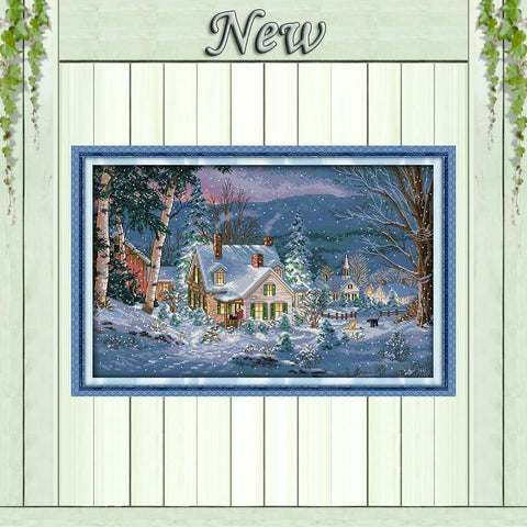 Paint 'N Crafts Snowy Christmas Nighht - Cross Stitch Kit