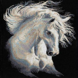 Paint 'N Crafts Square Diamonds 12x18'' (30x45cm) White Horse - Diamond Painting Kit