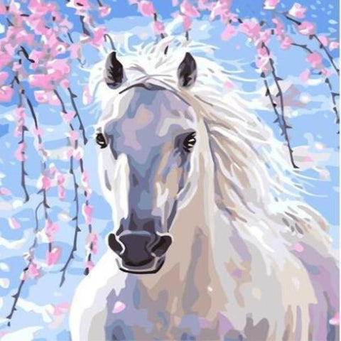 Paint 'N Crafts White Horse - Paint By Numbers Kit