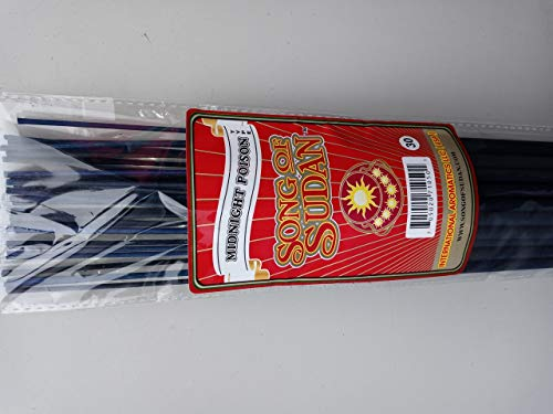 Song of Sudan Midnight Poison 19 Inch Jumbo Incense Sticks - 30 Sticks