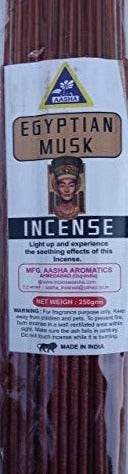 Aasha Egyptian Musk Jumbo Incense Sticks-16 Inch-40 Sticks