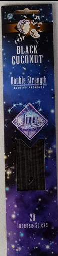 The Dipper Black Coconut 11 Inch Incense Sticks - 20 Sticks