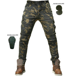 Camouflage Jeans Motorcycle Men's off-road Outdoor Pants