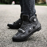 MJ MOTO New Brand Motorcycle Shoes Men/Women Pink/Black Motocross Boots Breathable Bike Shoe Self-Locking Ultralight Athletic