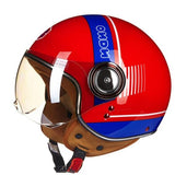 Open Face Motorcycle Helmet Women Men