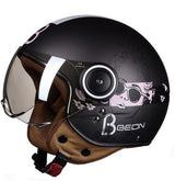 Women Motorcycle 3/4 Open Face Helmet