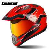 GSB Red Motorcycle Helmet
