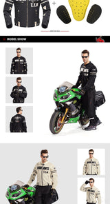 Summer Men's Protective Riding Jacket D-103 - Pride Armour