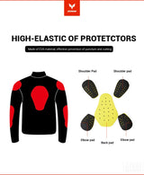 Motorcycle Safety Jacket D-023 Windproof - Pride Armour