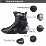 Leather Motocross Speed Safety Boots - Pride Armour