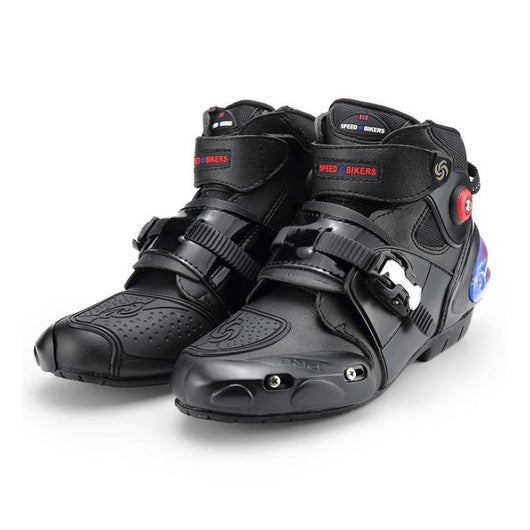 High Ankle Leather Motorbike Racing Boots - Pride Armour