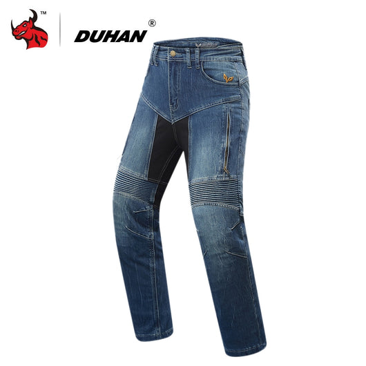 DUHAN Motorcycle Pants Men Motorcycle Jeans Motocross Pants Riding Pantalon Moto Knee Protective Gear Motorbike Jeans Trousers