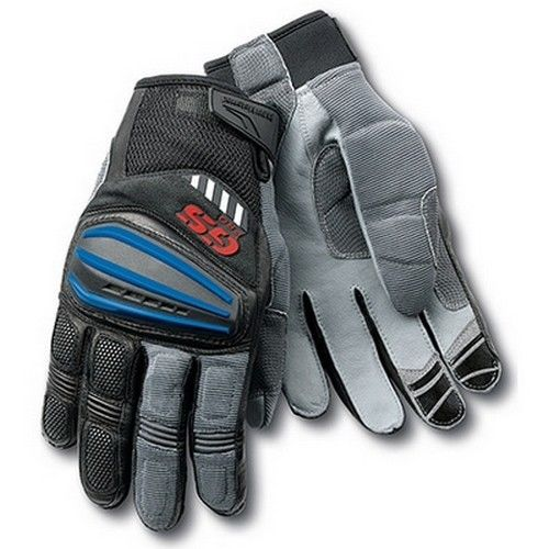 Motorrad Rally Black Red Leather Gloves