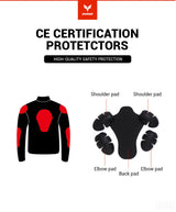 Motorcycle Protective Riding Jacket Waterproof D-117 - Pride Armour