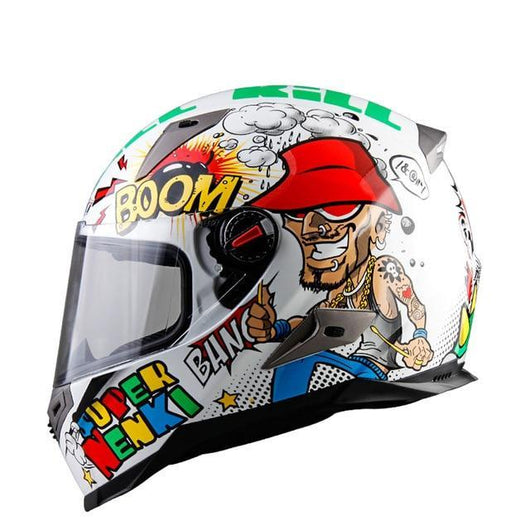 Cool Graphic Full Face Motorcycle Helmet ECE - Pride Armour